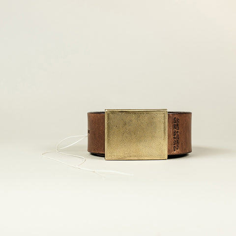 SANS N°001. Belt. Brown
