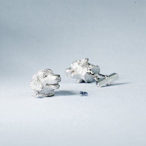 SANS N°025. 'Dogs'. Cufflinks (Golden Retriever/Golden Retriever)