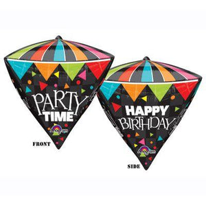 "Mylar 17"" Party Time Diamond"