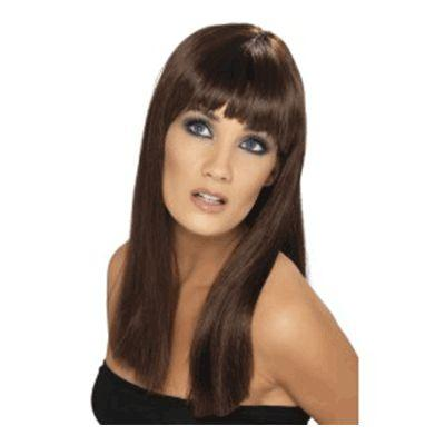 Glamourama Brown Bangs Wig