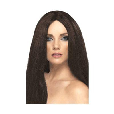 Brown Long Star Style Wig