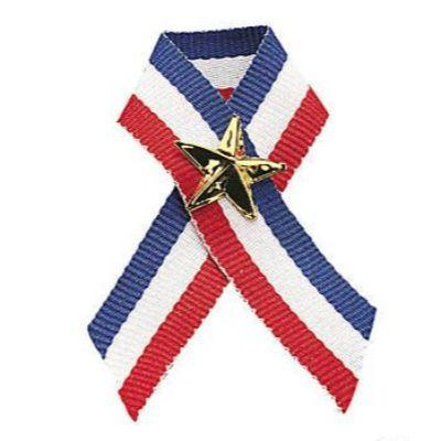 Patriotic Ribbon With Star Pins