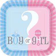 Gender Reveal Plate Ds Pk8