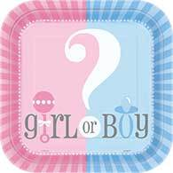 Gender Reveal Plate Dn Pk8