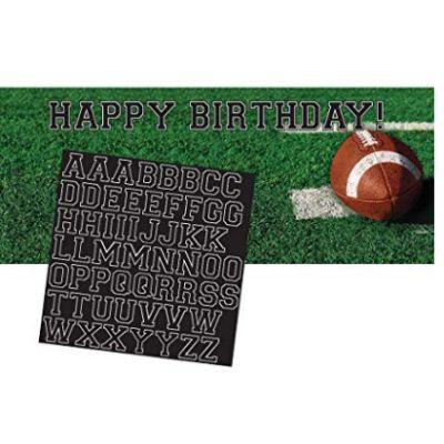 Football Fanatic Banner Birthday 5'