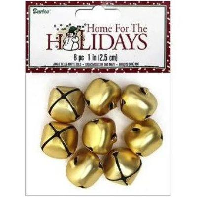 Gold Jingle Bells - 8 Pack