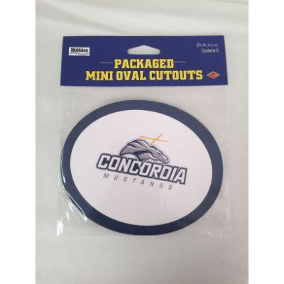 Concordia Mustangs Oval Cutout - 6 Pack