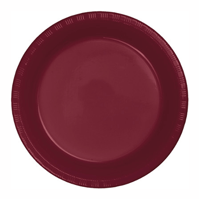 Burgundy Red Plastic Dinner Plate 10