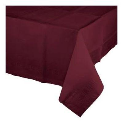 Burgundy Red Paper Tablecover 54