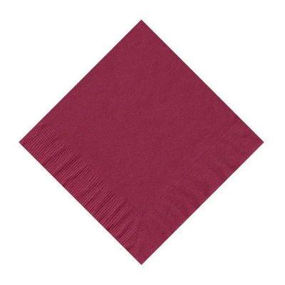 Burgundy Red Beverage Napkin - 50 Pack