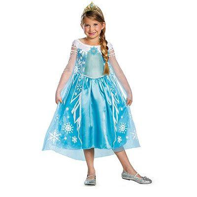 Princess Elsa Dress Child Costume - Disney: Frozen