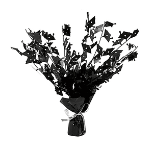 Graduation Black Spray Centerpiece 15""