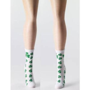 Socks St Pat Shamrock White