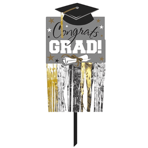 (Curbside Pick-Up Only) Congrats Grad Fringe Yard Sign
