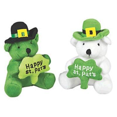 St. Patrick's Day Plush Bear With Shamrock Assorted 4