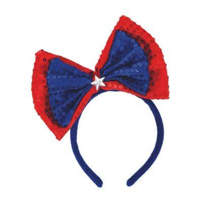 Patriotic Sequin Bow Headband