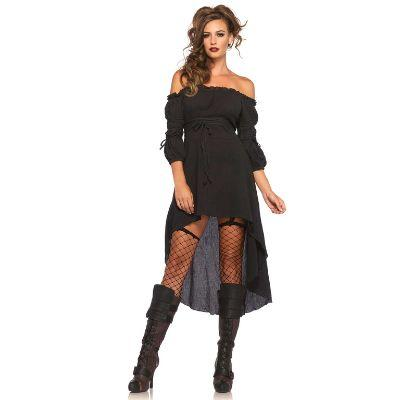 Renaissance Peasant Black Dress Adult Costume