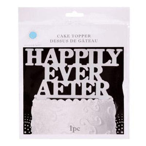 Cake Top Happily Ever After Silver