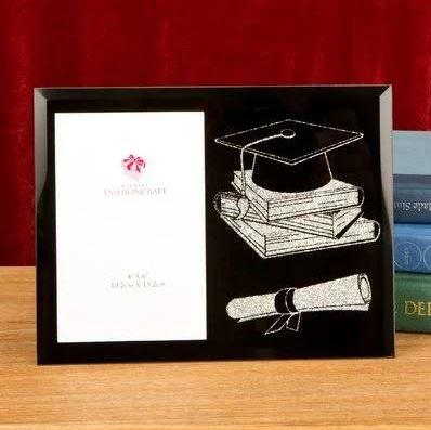 Graduation Black Glitter Picture Frame