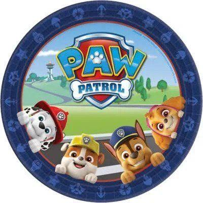 Paw Patrol Square Dinner Plate - 8 Pack
