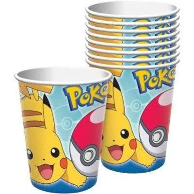 Pokemon Paper Cup 9 oz. - 8 Pack