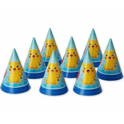 Pokemon Party Cone Hat - 8 Pack