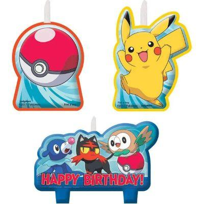 Pokemon & Friends Birthday Candles - 4 Pack
