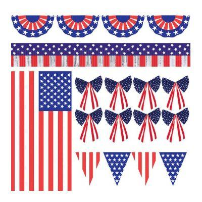 Patriotic Party Outdoor Decoration Kit - 12 Pack