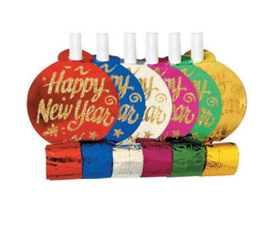 New Year's Glitter Blowers - Assorted Colors
