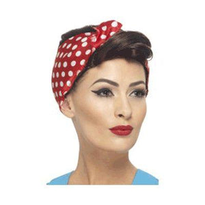 40's Rosie with Headscarf Wig