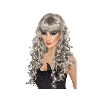 Siren Silver Long Curly Wig