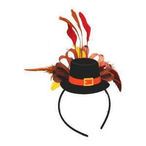 Pilgrim Hat With Feathers Headband