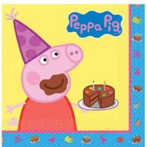 Peppa Pig Luncheon Napkins - 16 Pack