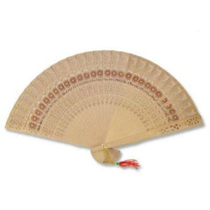 Wooden Flower Folding Fan
