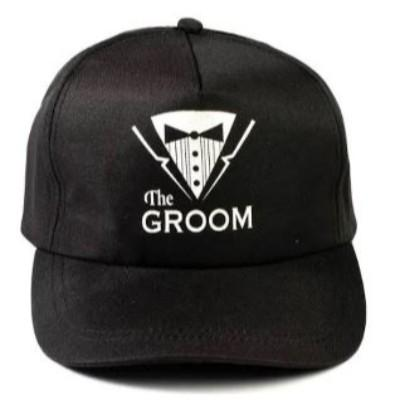Black The Groom Baseball Cap