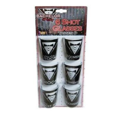 Bachelor Shot Glass - 6 Pack
