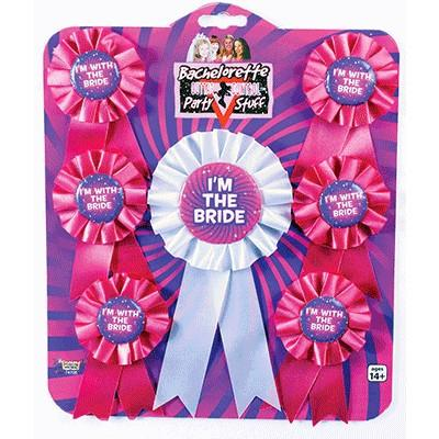 Bachelorette Party Ribbons - 6 Pack