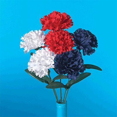Patriotic Carnation Floral Bush 13