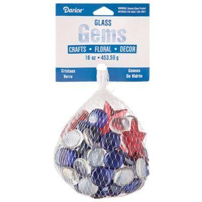Patriotic Glass Gems 16 oz.