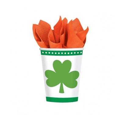 Lucky Shamrocks Cup 9 oz. - 8 Pack