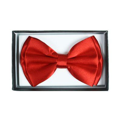 Bow Tie Red Satin