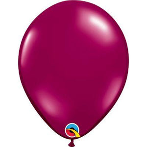 "Burgundy Transparent Latex Balloons 11"" - 100 Pack"