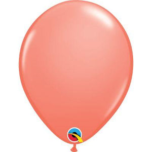 "Coral Latex Balloons 11"" - 100 Pack"