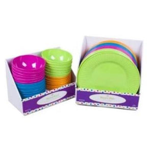 Bright Melamine Dinner Plate & Bowl - Assorted