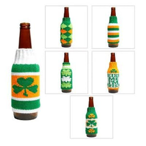 St. Patrick's Day Sweater Beer Bottle Cover Assorted
