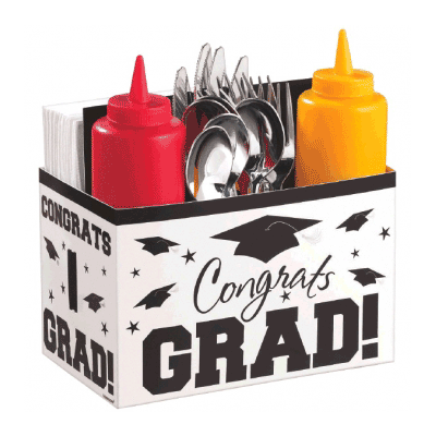 Congrats Grad White Paper Utensil Caddy