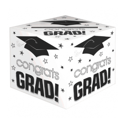 Congrats Grad White Card Box 12