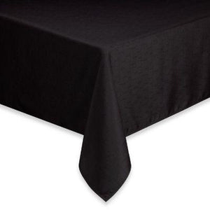 "Jet Black Tablecloth 56"" x 110"""