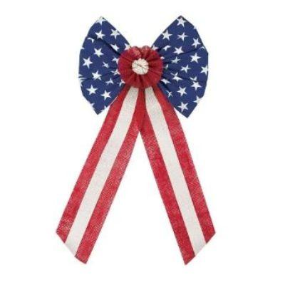 Americana Burlap Bow Decoration 28