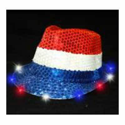 Red White & Blue Light Up Hat
